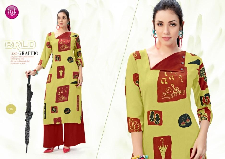 posh aleeza colorful fancy collection of kurtis at reasonable rate