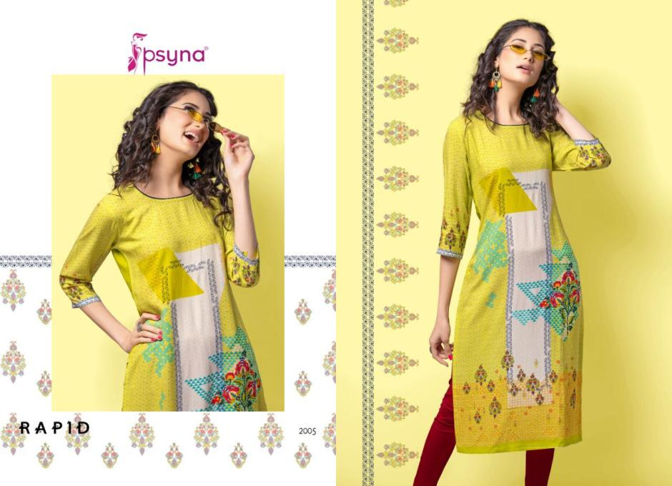 psyna rapid 2 colorful fancy ready to wear kurtis collection