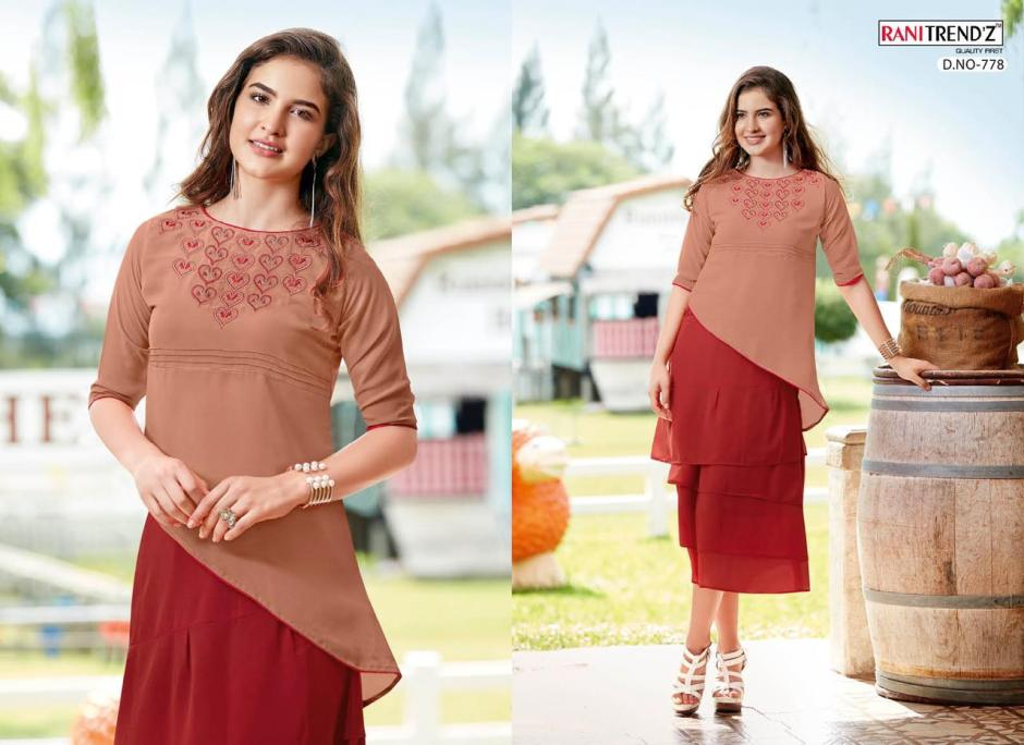 rani trendz western f colorful fancy collection of outfits