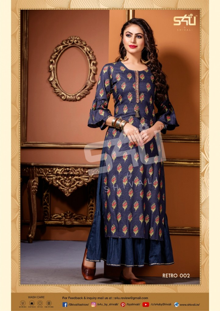 s4U retro 2019 colorful casual wear kurtis at reasonable rate