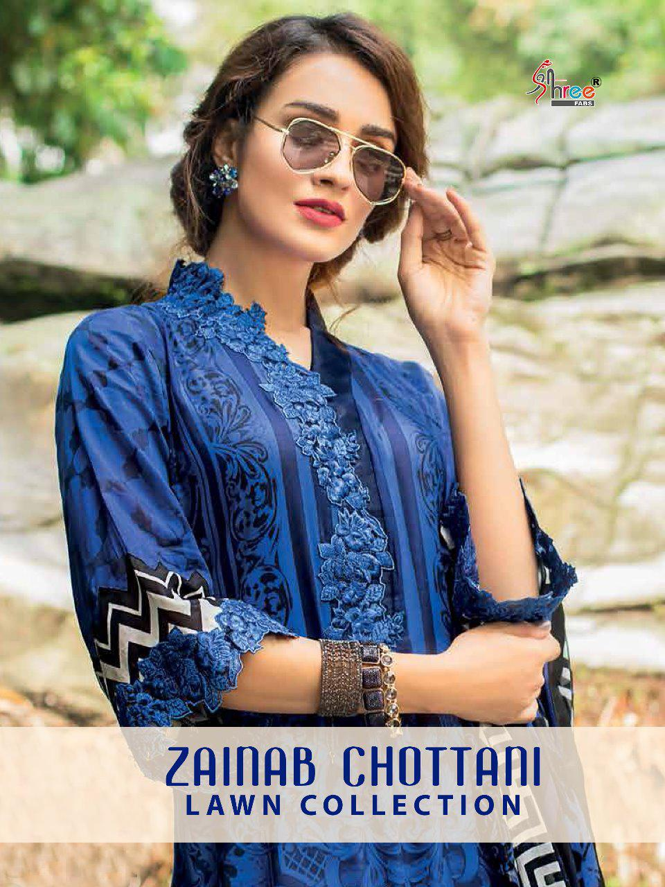shree fabs zainab chottani  lawn collection colorful salwaar suits collection