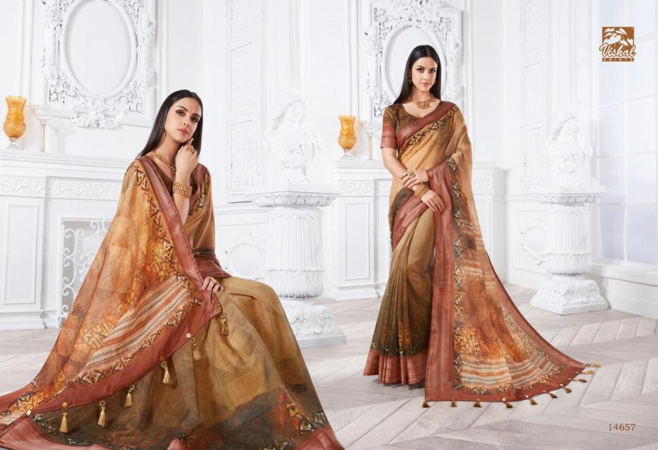 vishal sarees zoya colorful fancy wear sarees collection
