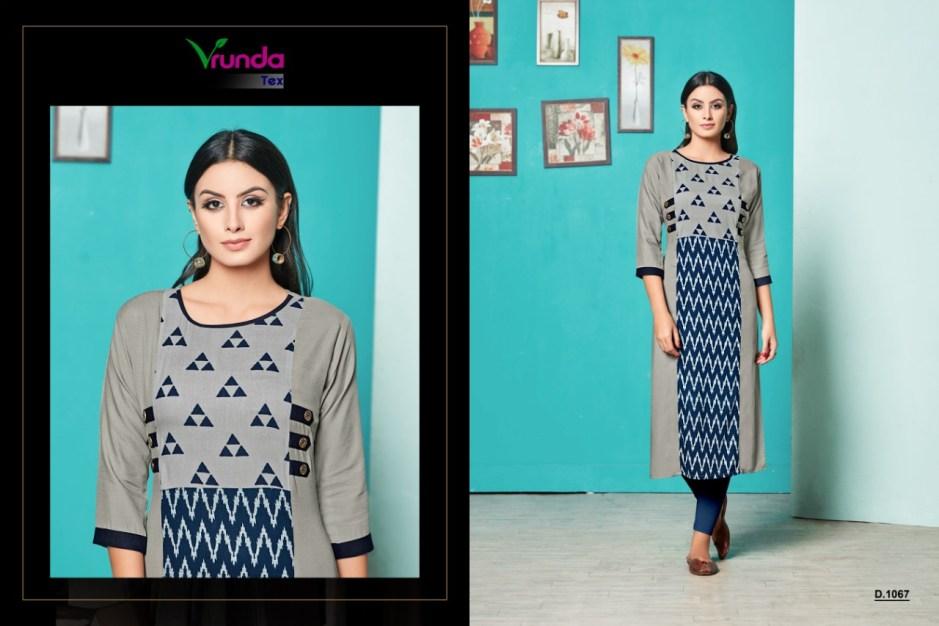 vrunda tex vani colorful casual wear kurtis at wholesale rate