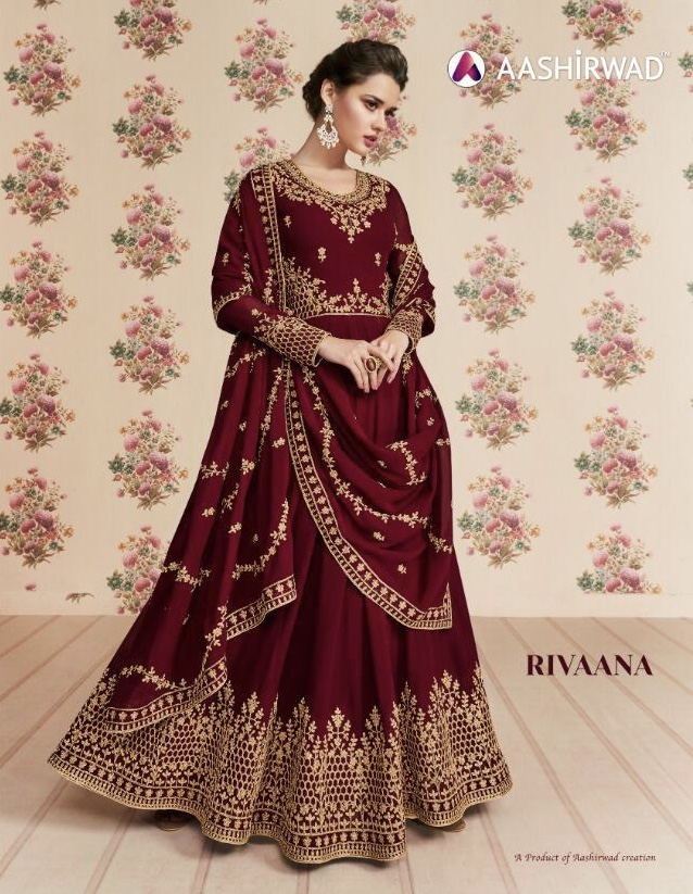 aashirwad creation rivaana colorful designer collection of outfits