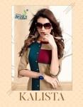 Alishka fashion kalista rayon straight kurties collection