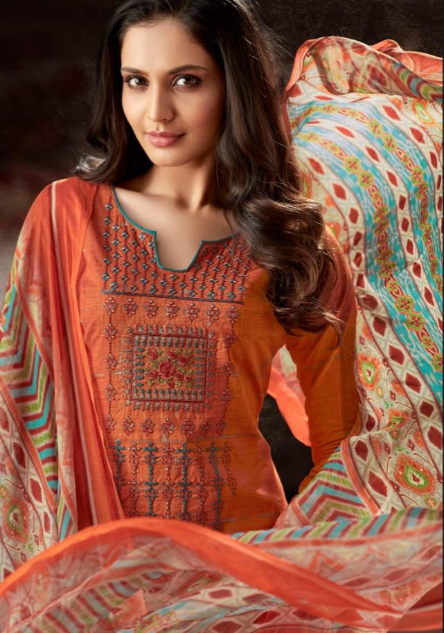 Alok suits evershine fancy cotton salwar kameez collection