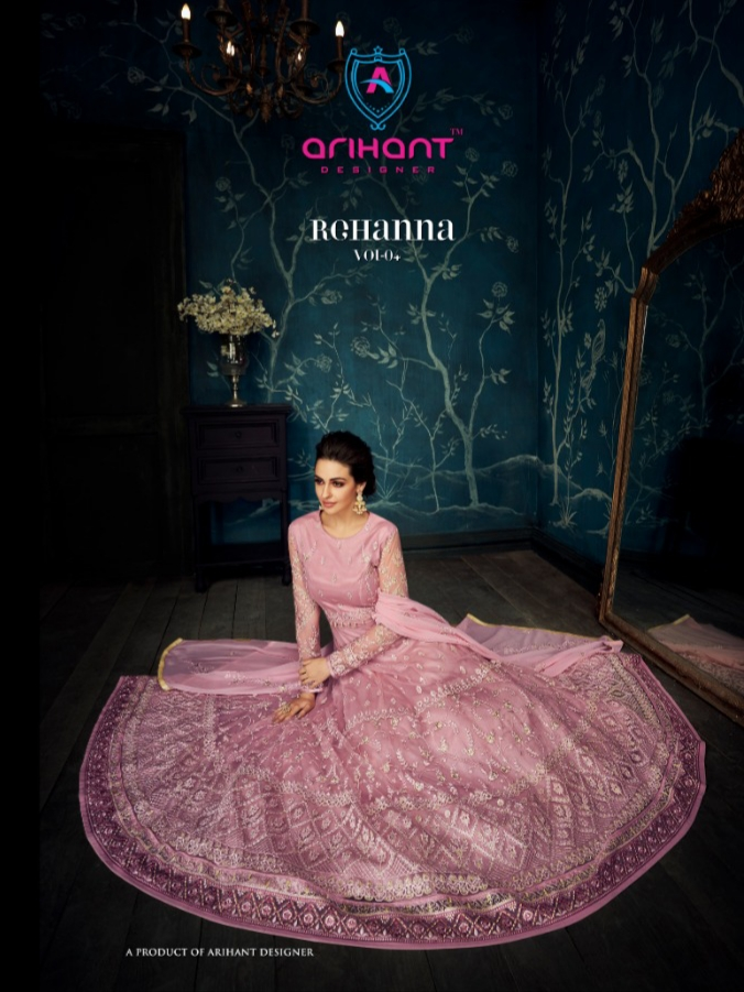 Arihant designer rehanna vol 4 heavy embroidered designer gowns collection
