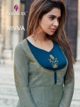 Arihant designer rivaa beautiful silk long gown collection