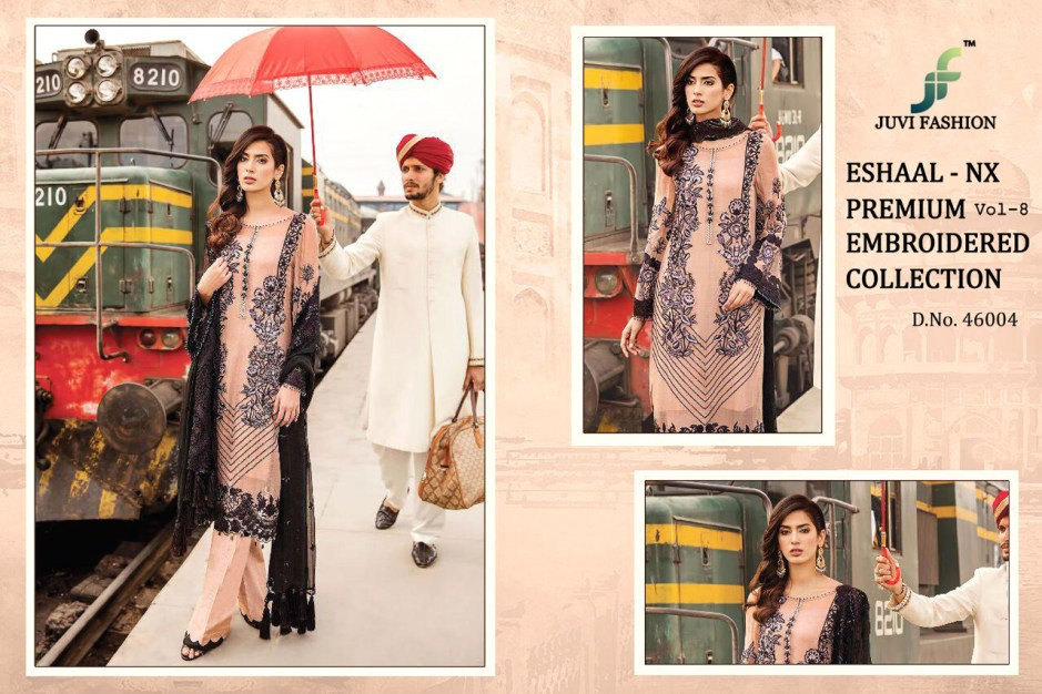eshaal vol 8 nX colorful fancy collection of salwaar suits at reasonable rate