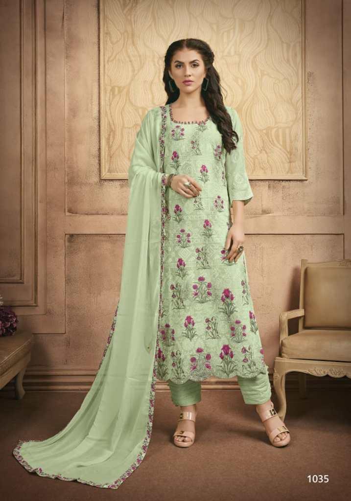 Fida international roohani cotton silk embroidered salwar kameez collection