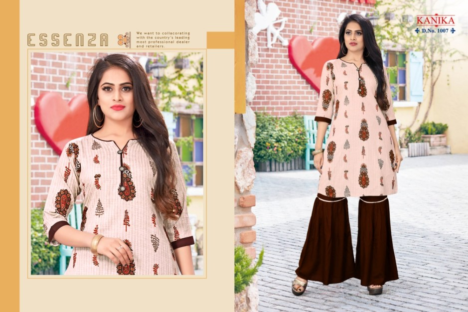 Kanika sarara vol 1 rayon printed kurties with sarara collection
