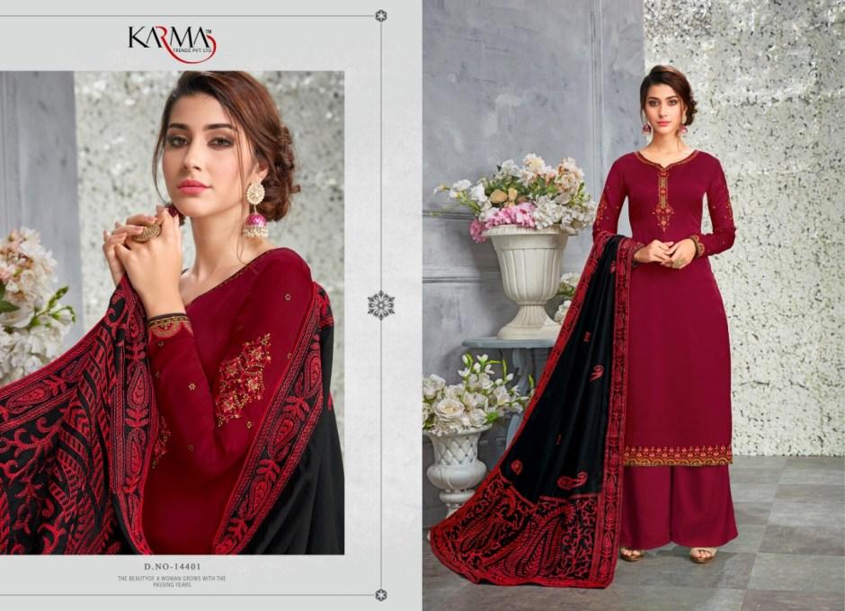 Karma trendz 14400 series heavy embroidered salwar kameez collection dealer