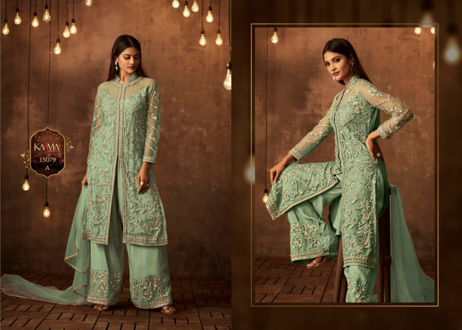 Karma trendz 15079 series colours heavy embroidered party wear salwar kameez collection