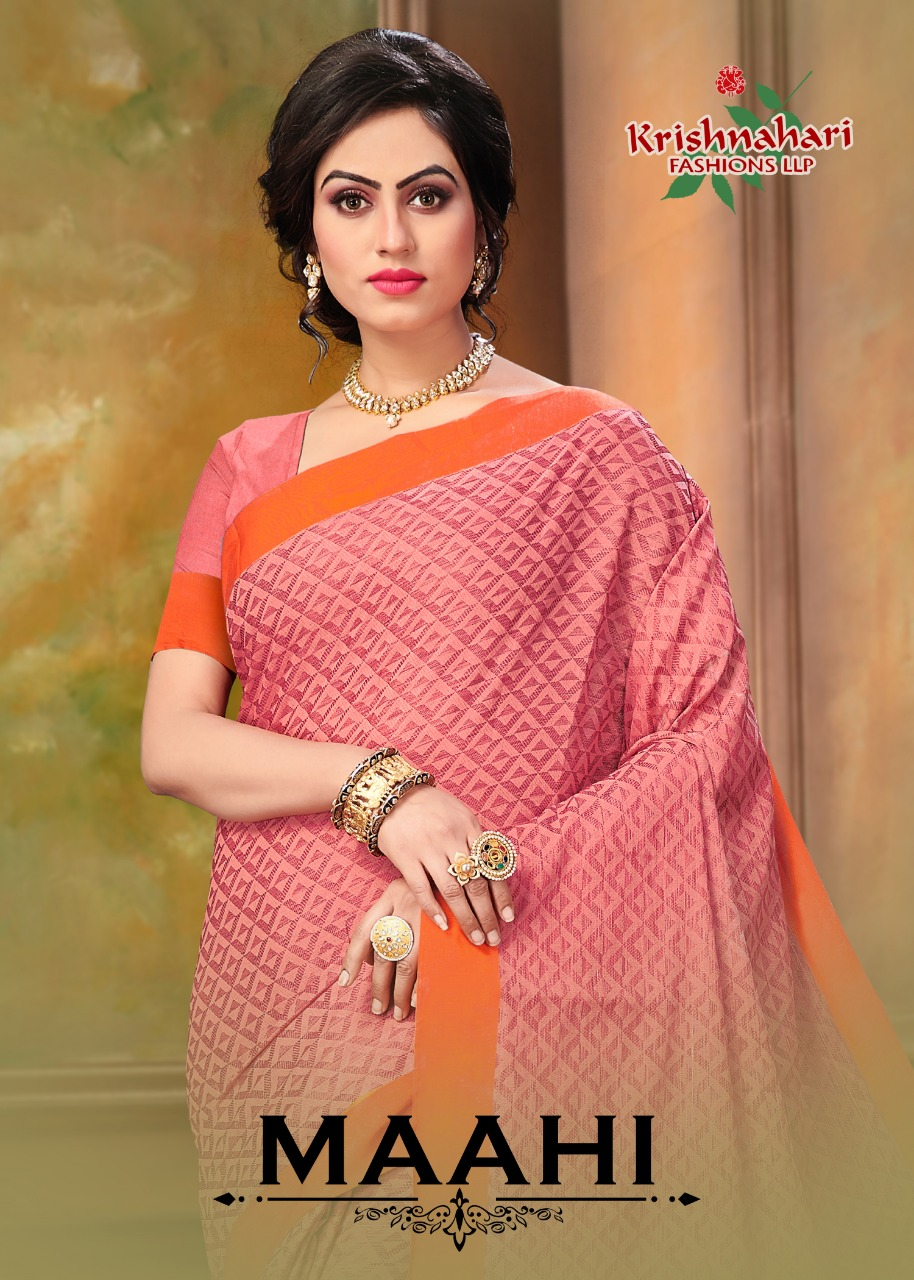 krishnahari meera fancy colorful collection of sarees at reasonable rate