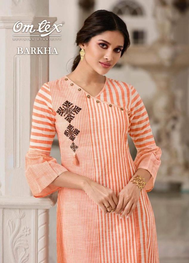 Omtex barkha fancy elegant kurti with plazzo collection