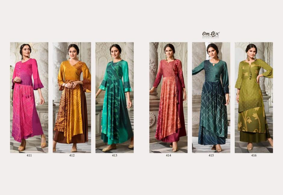 Omtex maulika multicoloured long indowestern gowns online at best rate