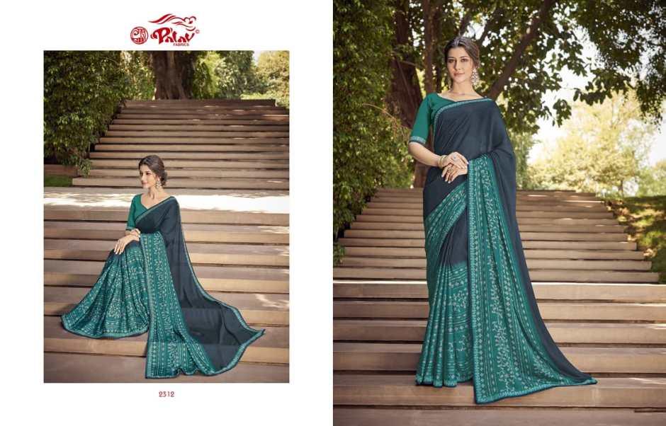 palav fabrics paarna vol 8 colorful cadual wear sarees catalog