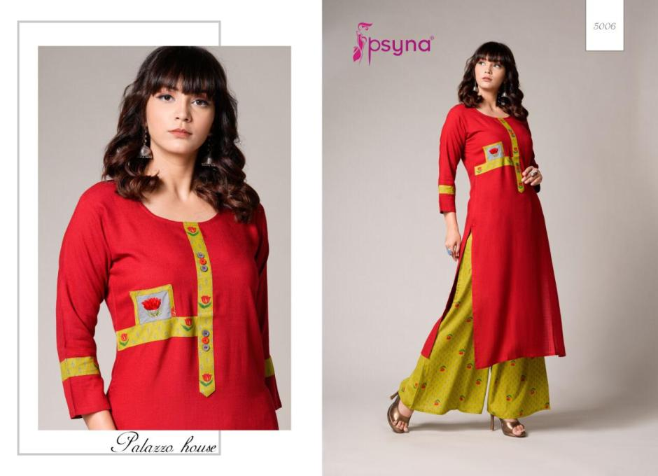 Psyna presents plazzo house vol 5 kurti with plazzo collection