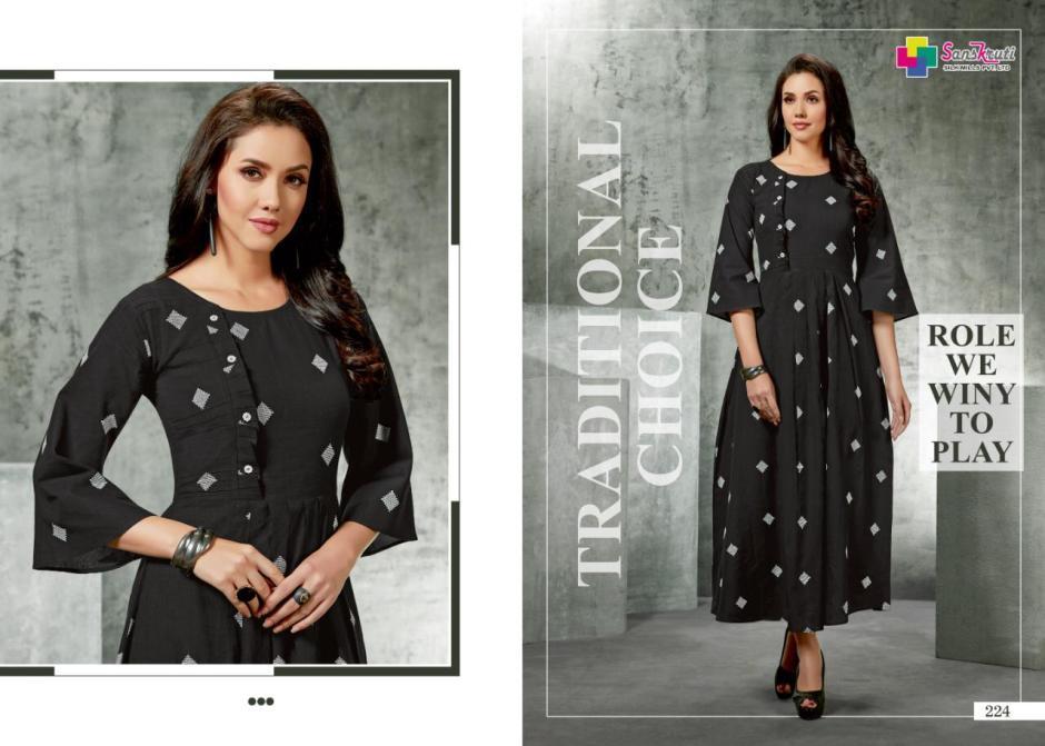 Sanskruti silk mills suhana elegant summer wear kurties collection