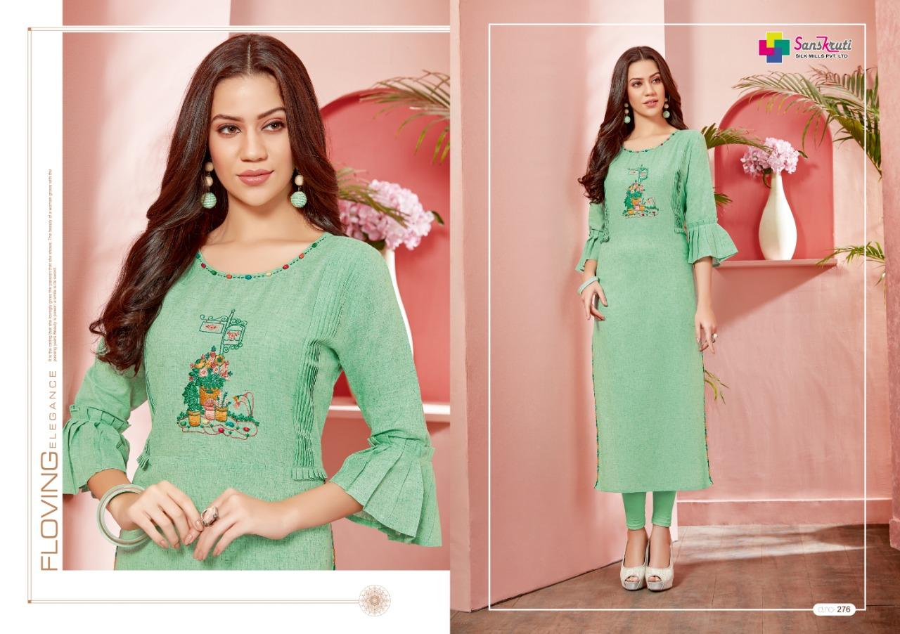 338344d7cf Sanskruti silk mills zahira cotton embroidered kurties collection