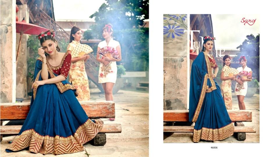 saroj fanaa colorful designer collection of sarees