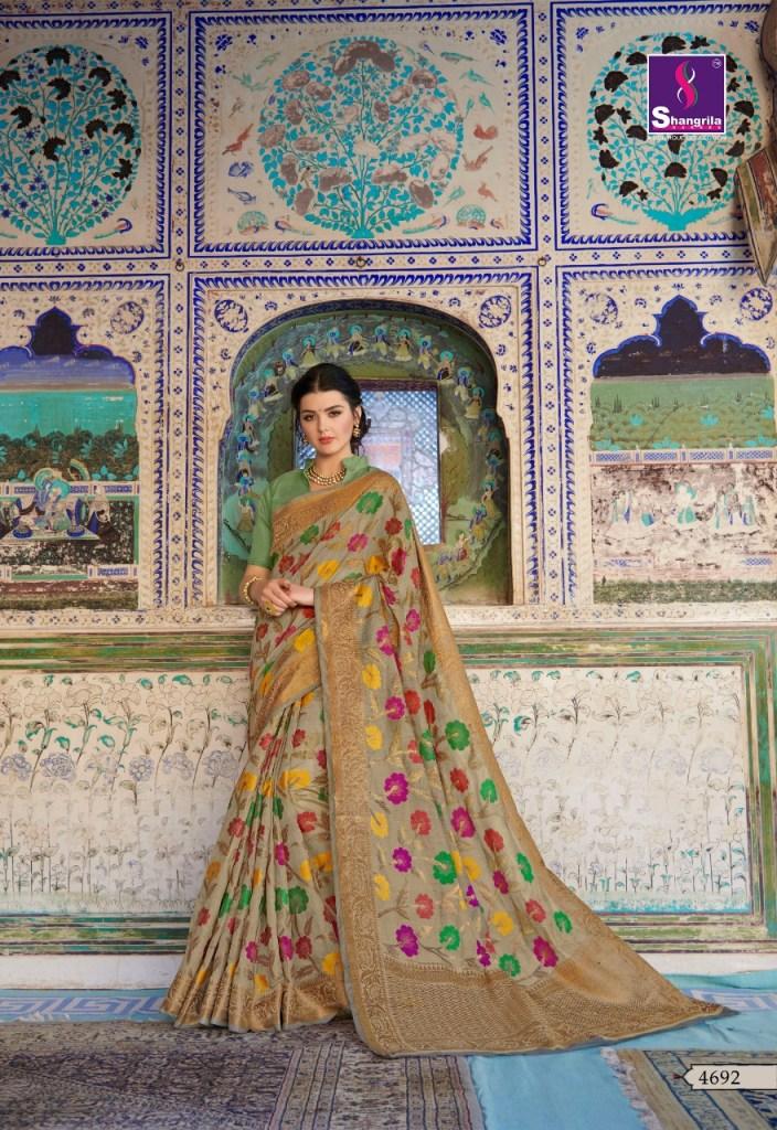Shangrila rooprachna Traditional cotton sarees catalog