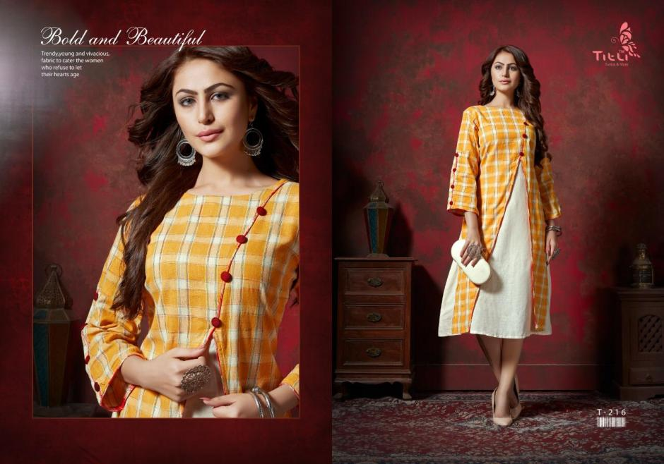 titli aster colorful fancy collection of kurtis at reasonable rate