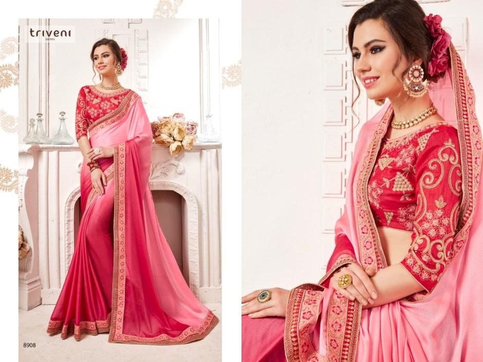 triveni dilruba colorful fancy collection of sarees
