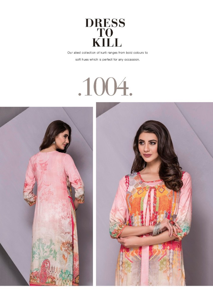 Tzu lifestyle mystery printed kurties with attached jacket