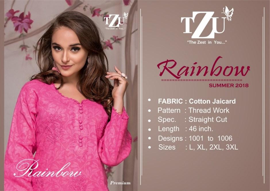 Tzu lifestyle rainbow straight cotton kurties collection