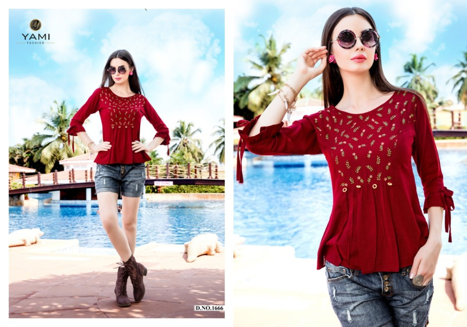 Yami fashion topsy vol 3 summer wear short tops collection