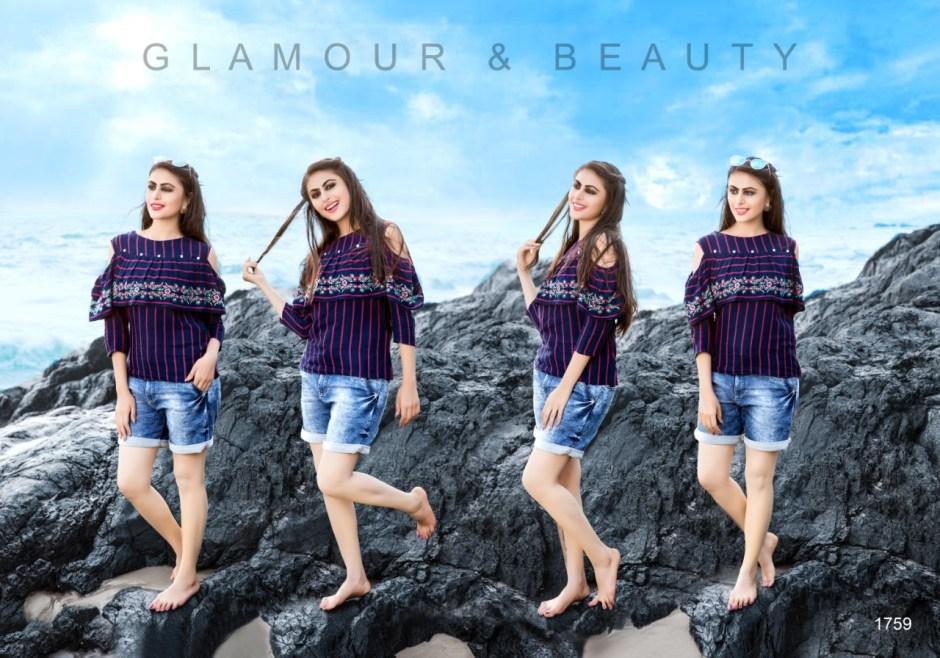 Yami fashion topsy vol 4 rayon stripes short tops dealer