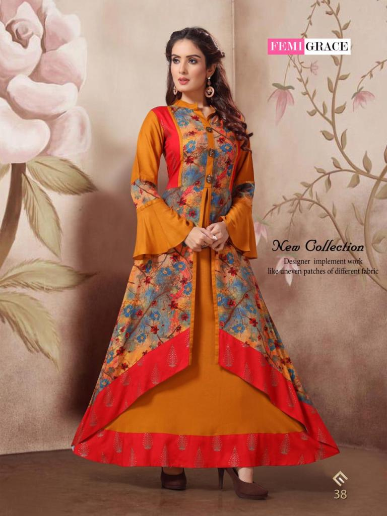 Femigrace vol 7 anarkali flair gown catalog  dealer