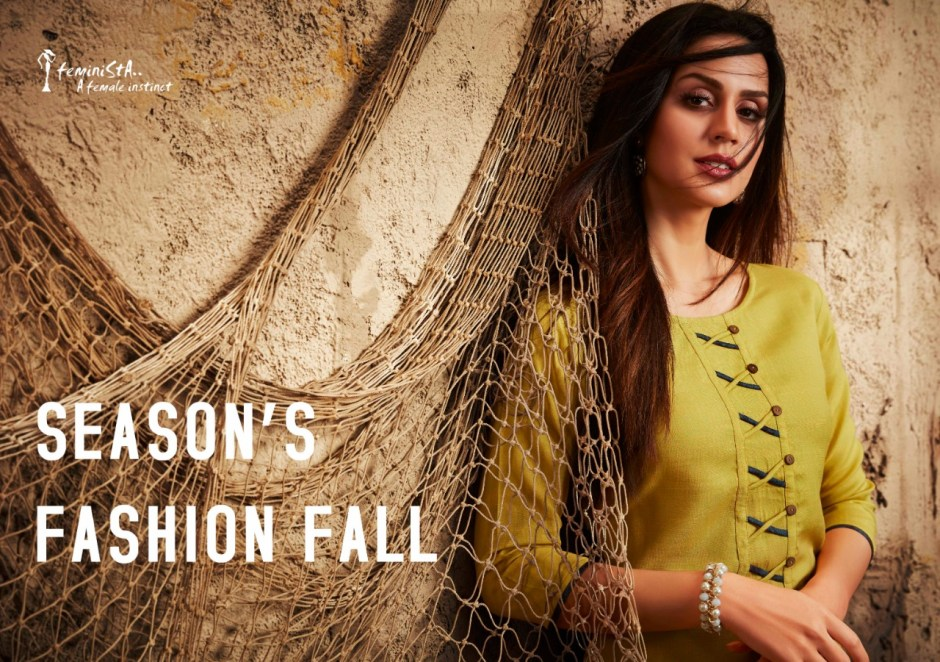 Feminista trendz printed rayon ready to wear kurties collection