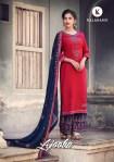 Kalarang creation ajooba embroidered dress Material at best rate