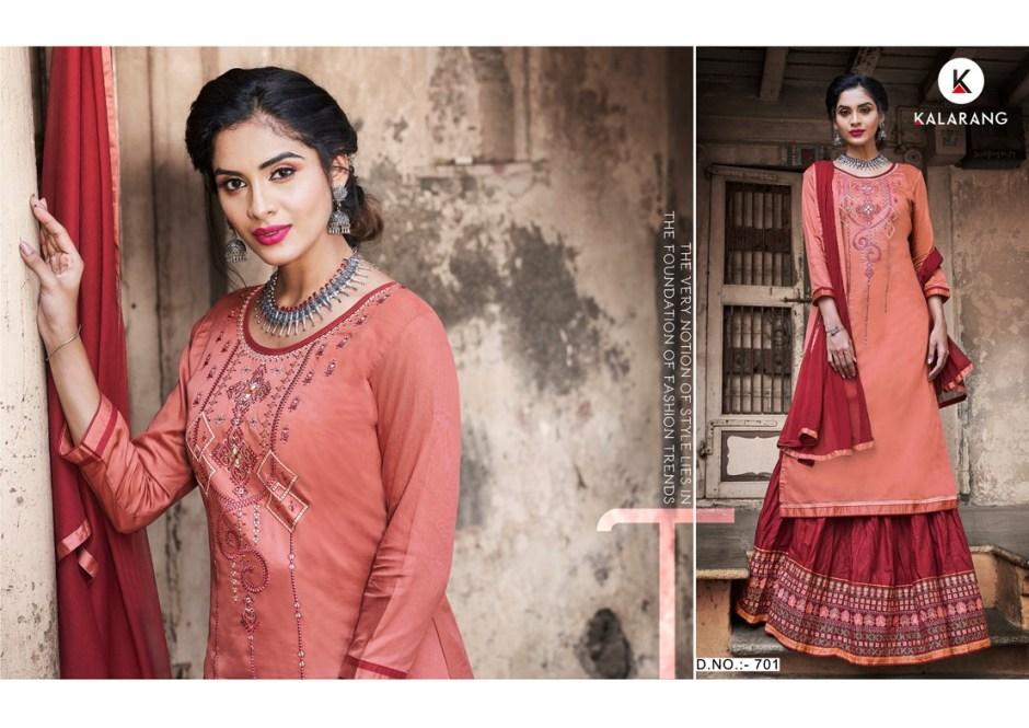 Kalarang creation blueberry vol 3 salwar with skirt collection