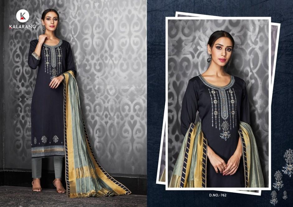 Kalarang creation jasmine vol 3 cotton embroidered salwar kameez collection