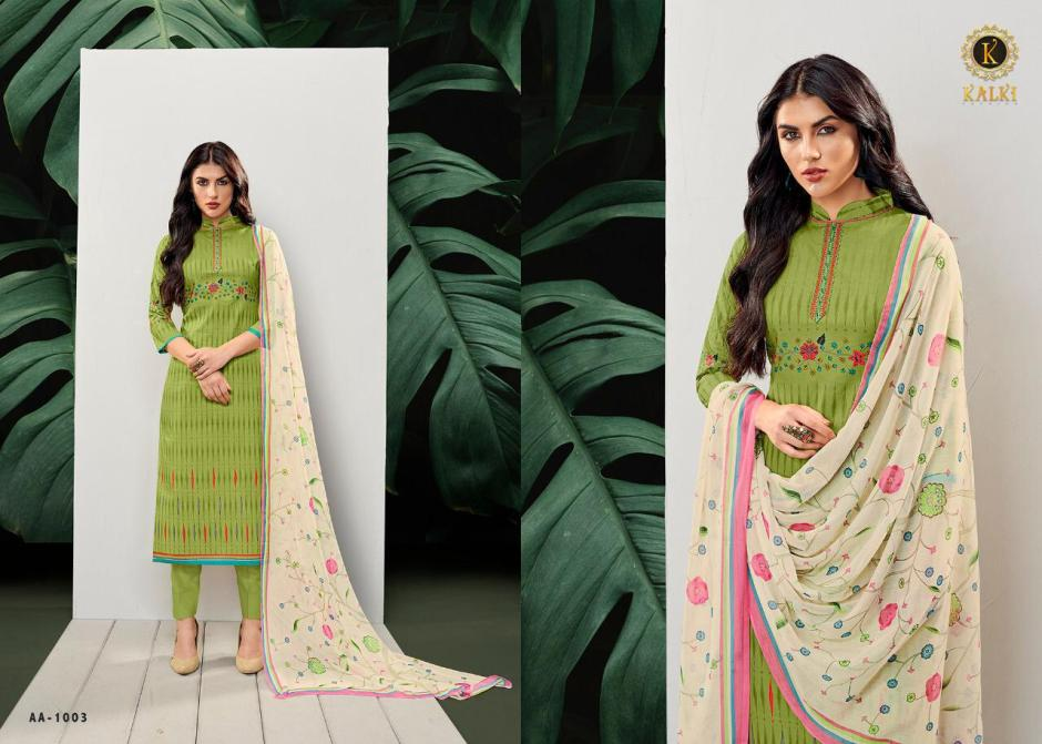 Kalki fashion kalki vol 1 embroidered lawn cotton salwar kameez collection