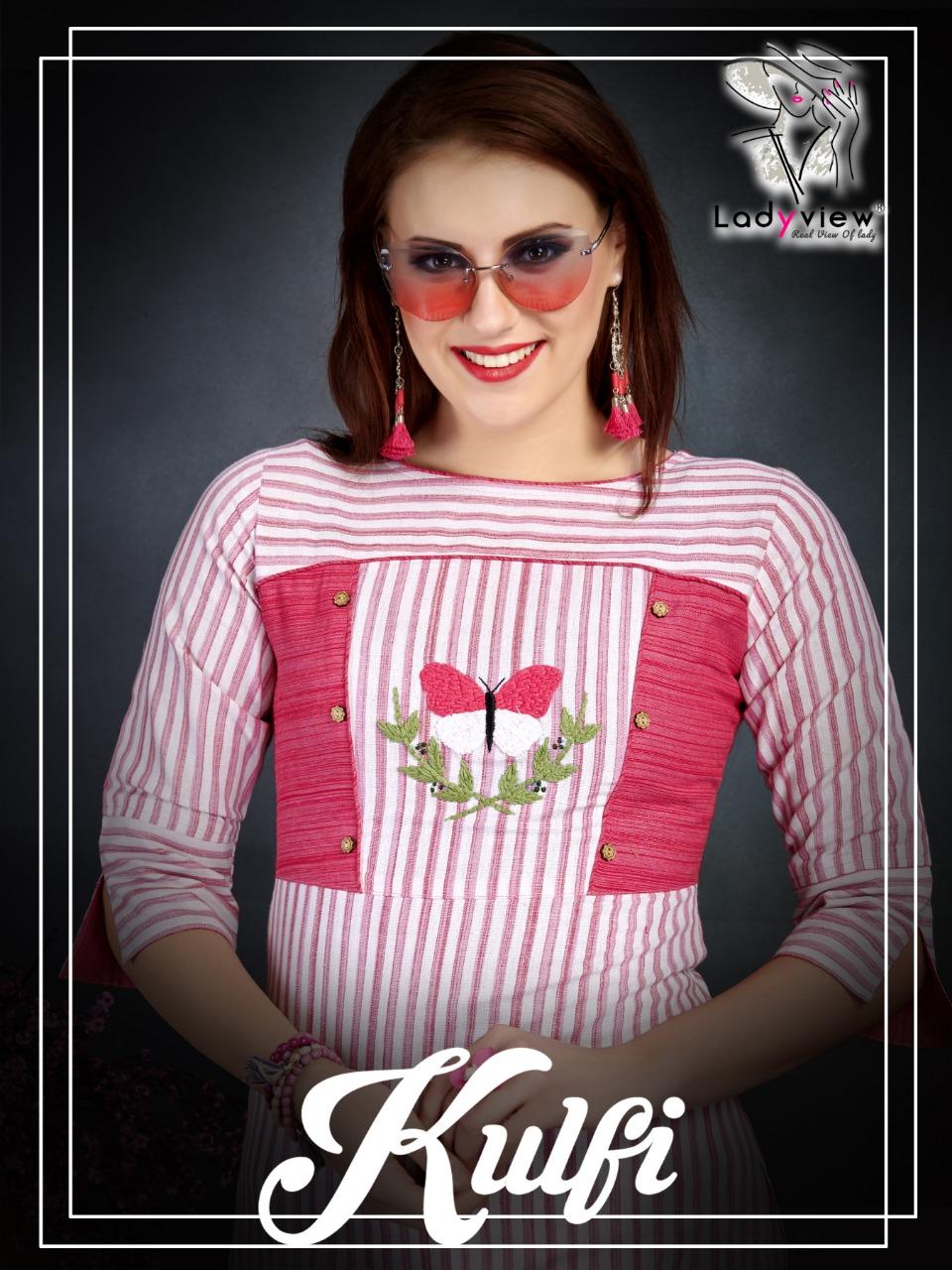 Ladyview kulfi cotton stripes kurties collection at wholesale price