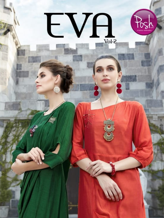 Posh kurti eva vol 2 party wear stylish gown collection