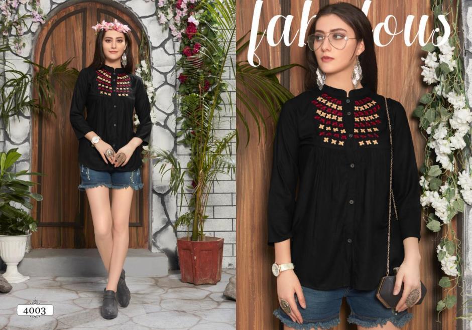 Riya designer compass vol 4 fancy rayon short tops collection dealer