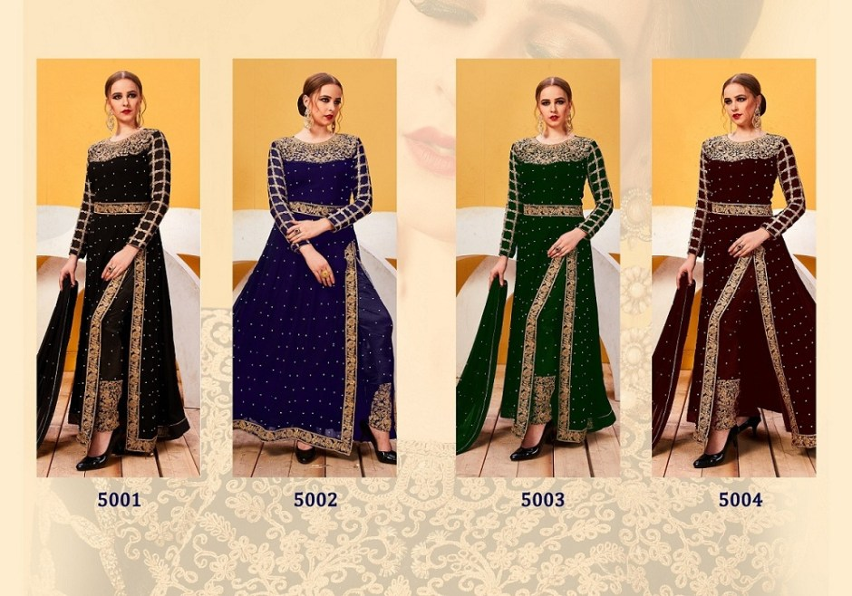 Senhora dresses zareena embroidered party wear gown collection