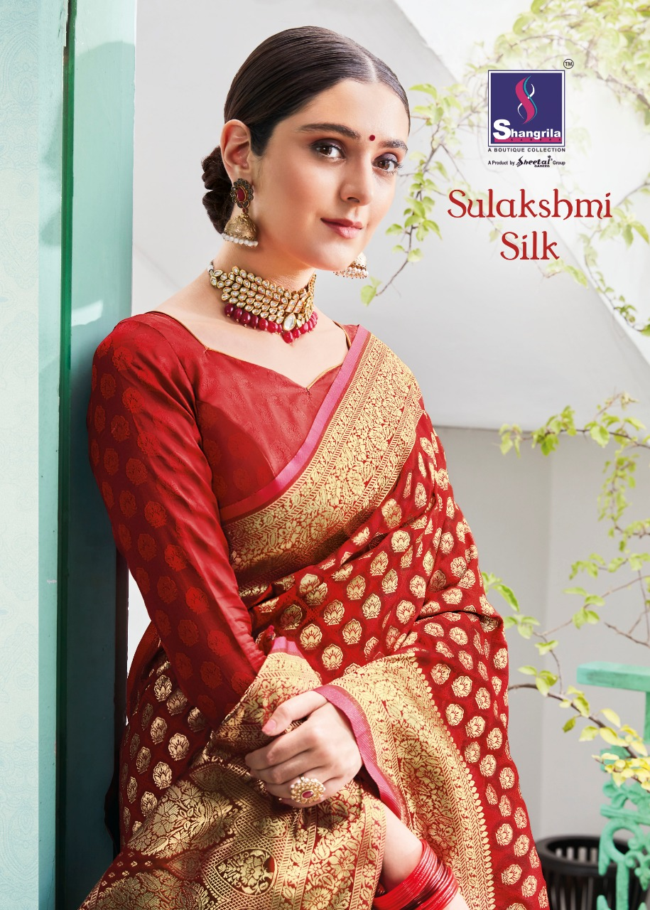 Shangrila sulakshmi banarasi printed fancy sarees collection