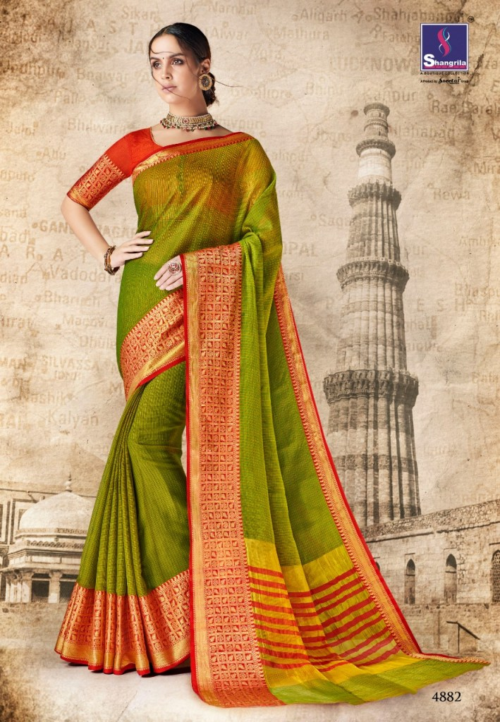 Shangrila vrinda cotton 2 printed Traditional wear sarees collection