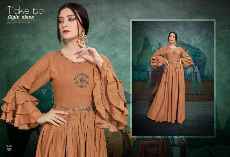 Sweety fashion salted long straight rayon gown catalog