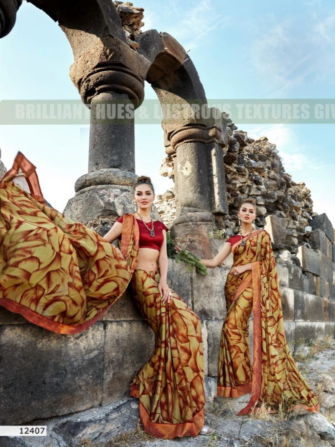 Triveni arshi fancy printed sarees designer collection