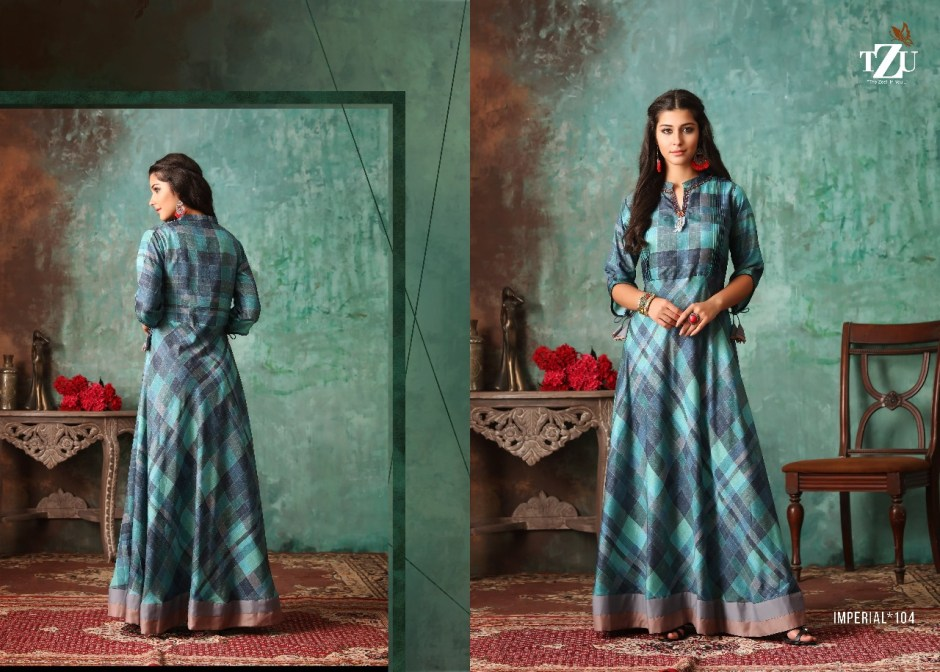 Tzu lifestyle imperial long silk gown collection at wholesale rate