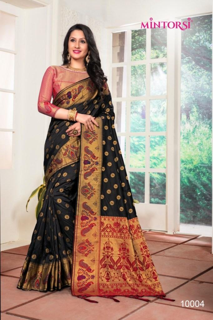 Varsiddhi mintorsi banarasi silk Occasional wear sarees catalog