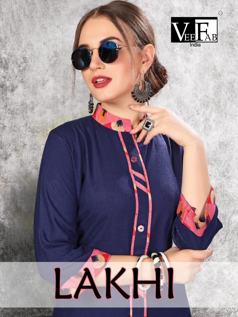 Veefab india lakhi designer kurti plazzo collection