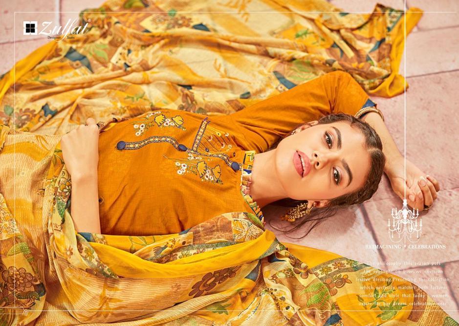 Zulfat designer studio patiala babes cotton printed salwar kameez collection